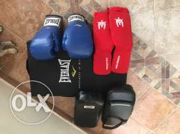 kickboxing/ Muai Thai pads and gloves
