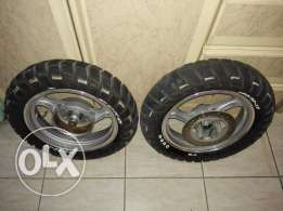 20 bd scooter rims set with tire front/rear