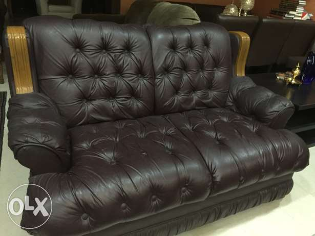 Leather sofa set for sell in excellent condition