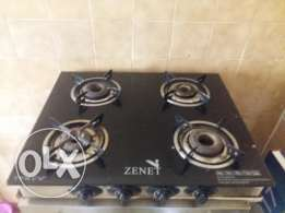 Gas Burner with glass against fire (used only 4 Month).