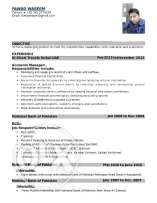 Application for the post of Accountant (4+ Experience in UAE)