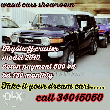 Toyota fj crusier model 2013 for sale . Your dream for installments