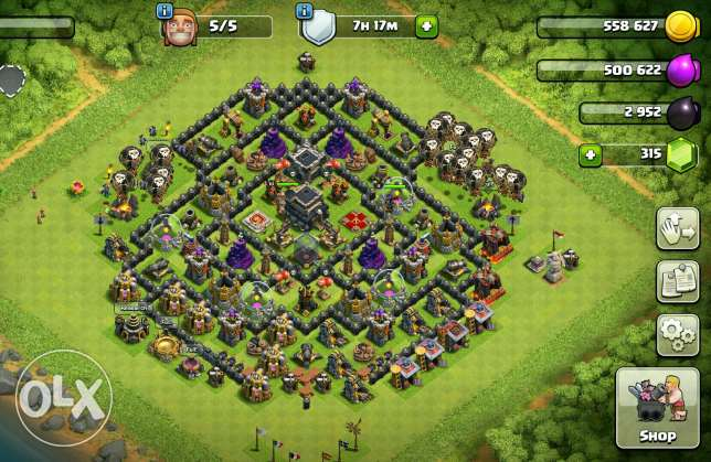Clash of clans townhall9 (almost maxed)