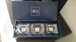 Never used Mikasa tealight candle glass holders holders
