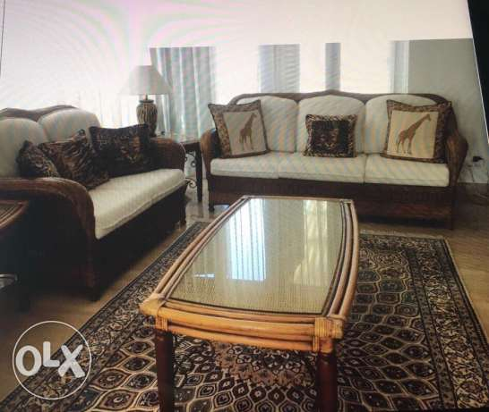 Sofa set 3-2-1 plus 2 side tables and centre table