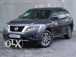 Nissan Pathfinder 3.5L Low 2014 Grey For Sale