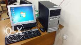 Computer full set hp banded pc/lcd monitor/keyboard, mouse/dvd ram