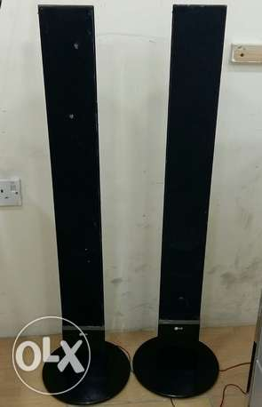 2 Lg And Polytron Tall Speakers