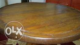 Hand made Dining round table 200 years ago 4x4ft