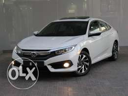 Honda Civic EXi 2.0L 4DR With Sunroof 2016 White For Sale