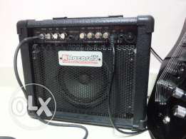 RECORDS electric guitar amplified with super overdrive