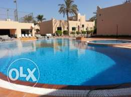 semi furnished  villa with pool