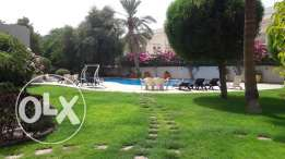 Spacious 4 Br plus maids room Semi Furn villa in Adliya BD. 1200/ Exc