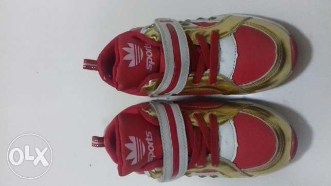 new and little use shoes for 2 to 3 year kids only 500 fils