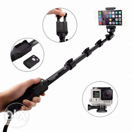 Selfie Stick Monopod With Bluetooth Remote Shutter For Phone Camera .