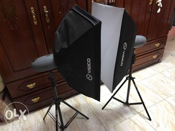 for sale 2 soft box flash