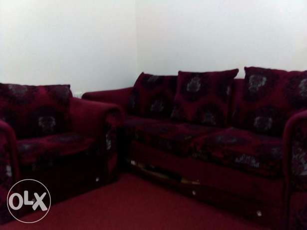 Complete Sofa set[3+1+1+1] in a good condition . only at 50BD.
