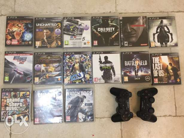 Playstation 3 slim 500GB + 15 Games + 2 joystick