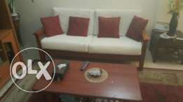 Sofa (5 seater) with center table