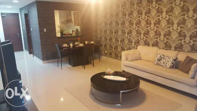 2br flat for rent in amwaj island stylish design