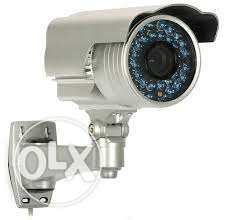 CCTV camera and dish fixing
