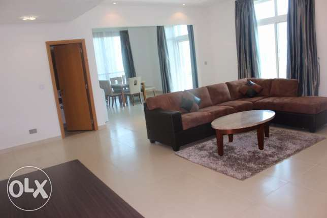 Super Sea view 2 BR in Seef / Balcony, Maids room