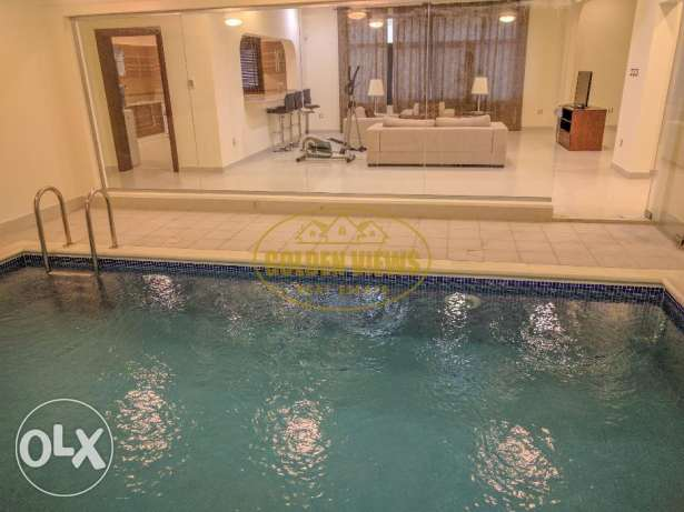 3 Bedroom fully furnished villa flat with private pool - inclusive