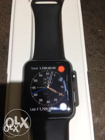 Apple Watch 42mm Space Grey - with extra bands and charging dock.