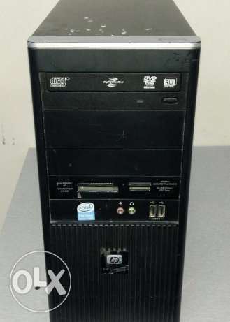 Hp branded pc core 2 DUO /DUAL CORE/HP keyboard, mouse/new dvd writer الرفاع -  2