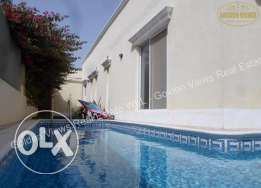 3 Bedrooms semi furnished villa with private pool