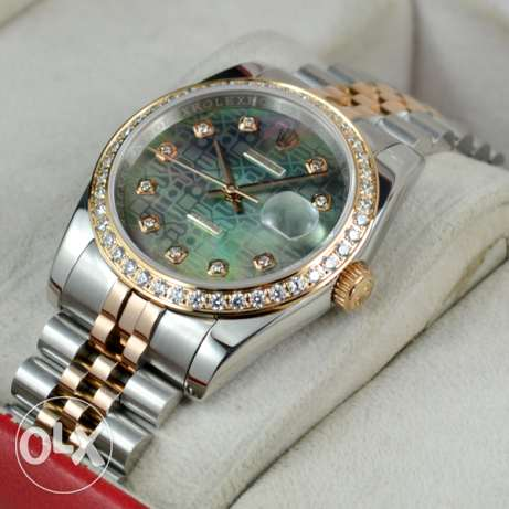 Rolex Datejust Green Jubilee Two Tone & Diamonds (Swiss AAA Quality)