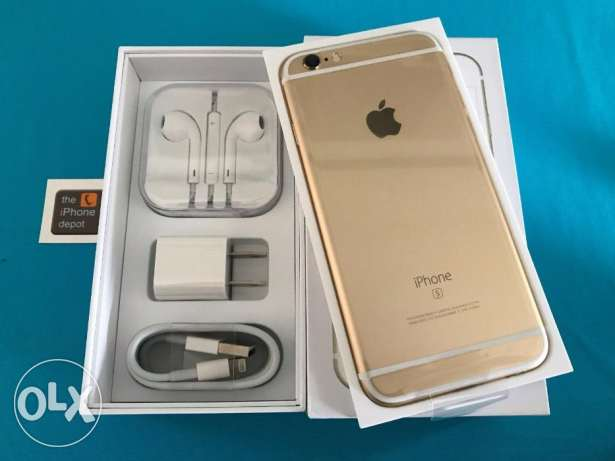 complete iPhone 6S Plus gold unlocked phone