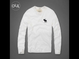 Long sleeve Shirt A & F white for sale