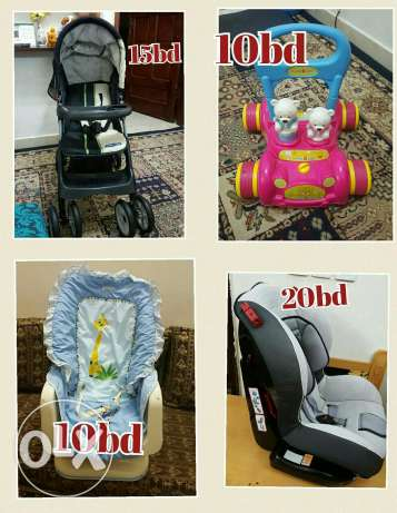 Car seat stroller walker and baby chair