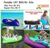 portable hangout lazy bed air filling seat for outdoor/indoor activiti