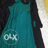 Brand New Green and black A-Line Long kurta with black crystal