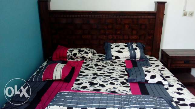 Urgent sale one double bed and two side tables