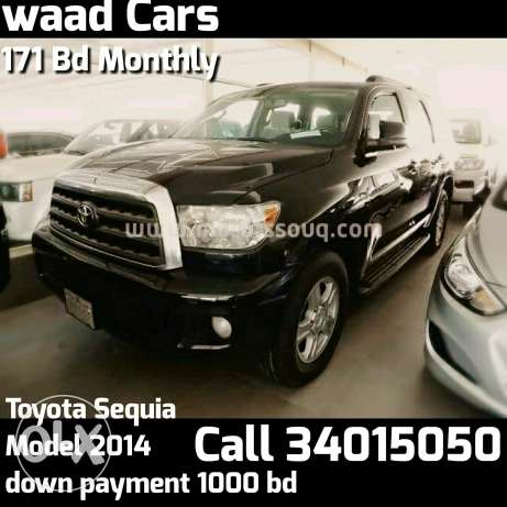 Easy get loans for Suv cars. Toyota sequia 2014 model