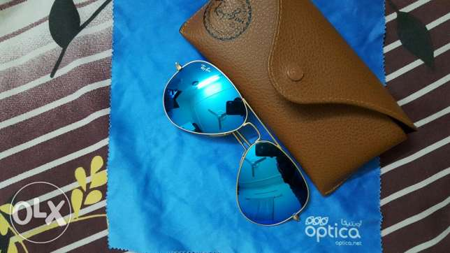 Orginal Ray ban Aviator Mirror Blue Metallic
