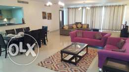 4br spacious sea view flat for rent in Amwaj with access to beach