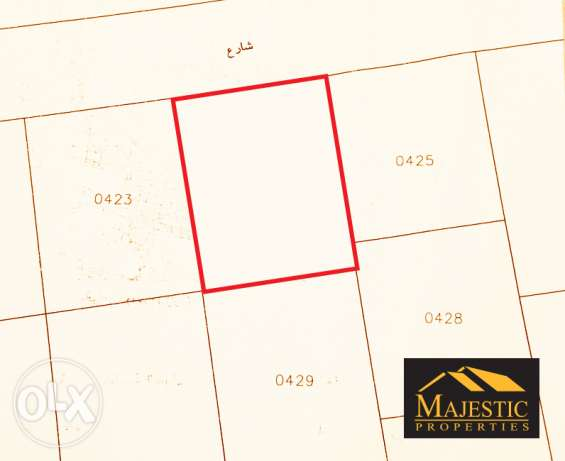 B6 Land for Sale on Seef Area Land Size: 743 sqm