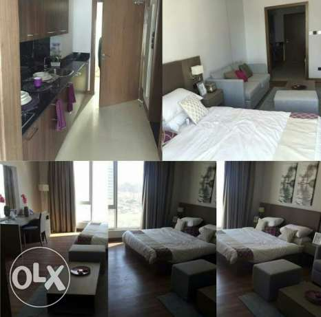 For rent fully furnished studio in Nest Tower in Seef area For BD 350