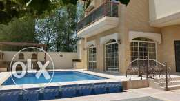 semi furnished villa with private pool close to BISB