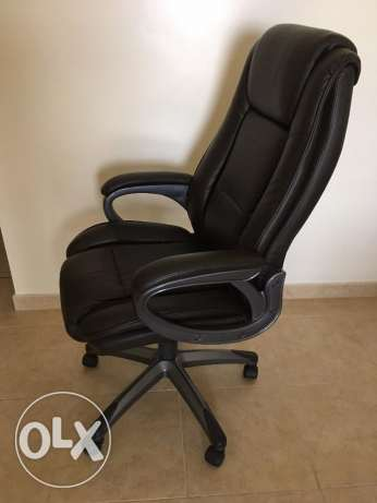 Chair desk leather
