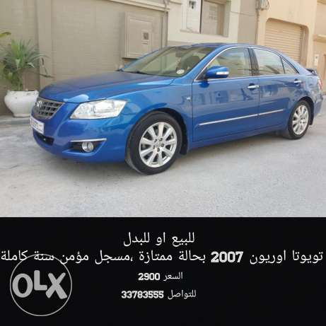 For sale 2007 toyota aurion