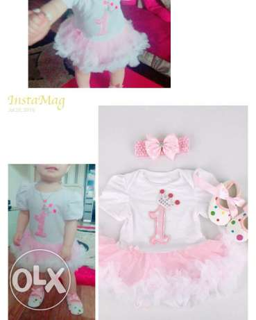 1 year birthday baby dress