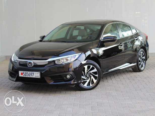 Honda Civic EXi 2.0L 4DR With Sunroof 2016 Black For Sale