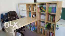 Ikea Office Desk, Bookshelf & chair