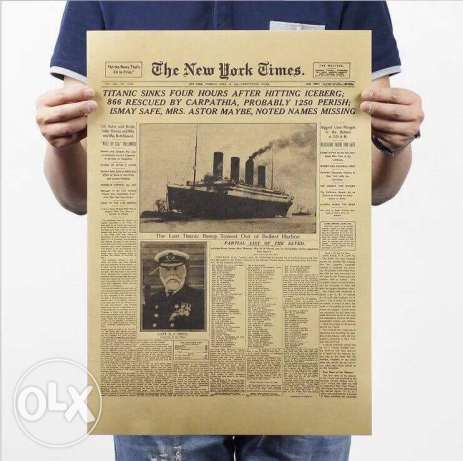 titanic newspaper poster