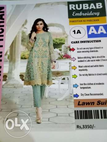 pakistani lawn with embroidery and printed lawn with chiffon duppata